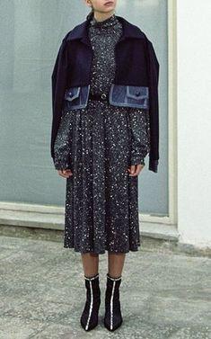 Sparkly Turtleneck Dress by Anouki Pre-Fall 2018