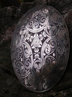 Beautiful tortoise brooch. Norse Jewelry - Viking Tortoise (Turtle Brooch) Set Handmade and Etched with Intricate Celtic Spirals and Knots in Nickel