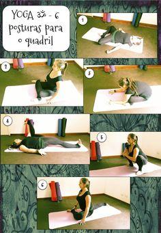 Duas sequências para exercitar os quadris, liberando também a tensão na região lombar e nas pernas.