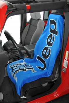 Jeep® Logo Towel 2 Go Seat Cover - Easily washable seat covers that are only used when we're out wheelin'