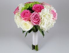 The bouquet tutorial shows you each step in constructing a bouquet made out of roses and hydrangeas. Order wholesale flowers to make your bouquet on budget.