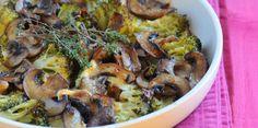 Gratin de brocoli aux champignons