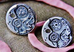 Machine Wheel Cufflinks  WEDDING  Clock Watch Time by CleopatraNYC, $53.00