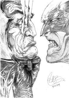 The Wolverine vs Magneto
