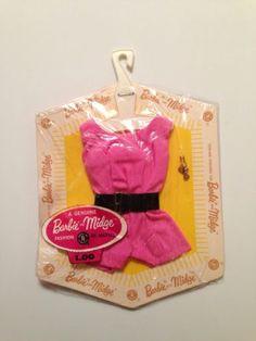 1962 Barbie & Midge Pink & Black Playsuit (Fashion Pak) #