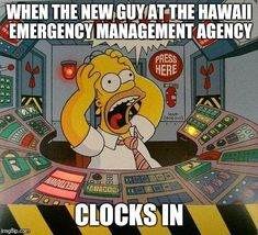 Homer Simpson - Nuclear Meltdown card, with alarm sounding, and all those lights flashing. Justin Stone, Funniest Snapchats, Super Funny Memes, Funny Posters, Belly Laughs, Homer Simpson, Look At You, Adult Humor, Funny Pictures