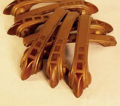 Art Deco Metal Drawer Handles Furniture Restoration Hardware Claws Foot Design 1930s 40s