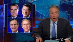 "Jon Stewart Suggests the One Way to Get Republicans to Believe in Climate Change.  ""Climate change warnings and EPA empowerment coming from actual Republicans?"" Stewart asked. ""That's like being told pizza causes cancer by the Teenage Mutant Ninja Turtles."" But not even that convinced skeptical Republicans. According to Stewart, there's only one way left to convince the GOP in Congress of the dangers of climate change: ""Barack Obama must become a global warming denier."""