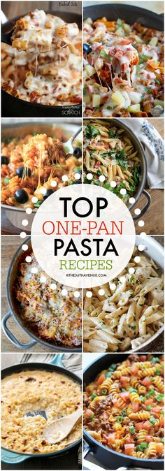 One Pan Pasta Recipes at https://the36thavenue.com PIN IT NOW AND MAKE THEM LATER!