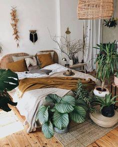 Bohemian Bedrooms, Bohemian Bedroom Decor, Farmhouse Bedroom Decor, Boho Style Decor, Bohemian Interior, Boho Chic, Girl Bedroom Walls, Room Ideas Bedroom, Home Bedroom
