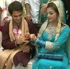 Squash Player Waqqas Mehboob engagement with Sidra Khan Pictures