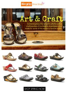 The Art and Craft of Alegria Shoes for Spring | Alegria Shoe Shop #AlegriaShoes #spring #summer #sandals #funinthesun