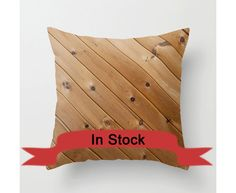 "16"" Wood Grain Pillow Cover Rustic Decor Accent Pillow Cushion Cover Shabby Chic Home Decor Brown Knotty Wood Cabin Decor Gift for Him http://ift.tt/1K58nR4"