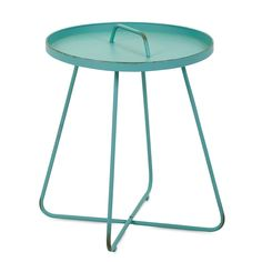 Imax Reiley Teal Handle End Table - End Tables at Hayneedle