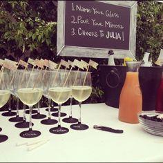 champagne bar wedding | Bridal Shower Champagne Bar @Gracia Gomez-Cortazar Palmer | Celebrating soon to be Gr ...