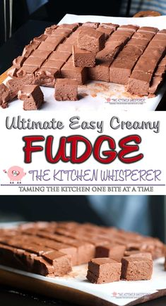 This is truly the Ultimate Easy Creamy No-Fail Chocolate Fudge. Just a few minutes is all it takes to make this seriously delicious, super creamy, no fail fudge! best fudge recipe, easy chocolate fudge, no fail christmas fudge, Mom's fudge recipe, #fudge #chocolatefudge #christmascandy Easy Chocolate Fudge, Homemade Chocolate, Chocolate Recipes, Homemade Fudge Easy, Chocolate Tarts, Classic Fudge Recipe, Best Fudge Recipe, Cream Cheese Fudge Recipe, Marshmallow Fluff Recipes