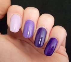 Simple Purple Ombre - #ombre #nails #nailpolish #purplenails #purpleombre #squeakynails - bellashoot.com