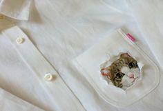 「刺繍の猫シャツ」日本人女性が作ったシャツがネットで大人気