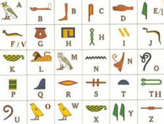 While Sumerian cuneiform is usually seen as the oldest form of writing, recent archaeological discoveries now suggest that Egyptian hieroglyphs may be older. The Egyptian hieroglyphic system is. Egyptian Alphabet, Egyptian Symbols, Ancient Egypt For Kids, Ancient Art, Ancient Egypt Activities, Asterix Y Obelix, Egyptian Party, Scavenger Hunt Clues, Scavenger Hunts