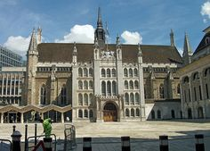 London Guildhall.  There's been a guildhall here since the 12th century; the current building dates from the 15th. Home of the City of London Corporation. An impressive example of Gothic style.