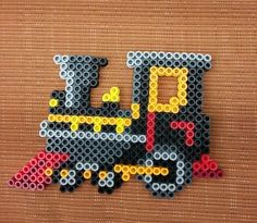 Your place to buy and sell all things handmade - Train by AllisBeadDesigns on Etsy - Hama Beads Design, Diy Perler Beads, Perler Bead Art, Pearler Beads, Fuse Beads, Pearler Bead Patterns, Perler Patterns, Quilt Patterns, Loom Beading