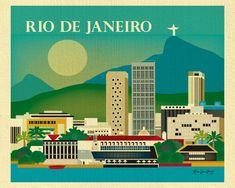Rio De Janeiro Brazil Horizontal skyline original 8 by loosepetals