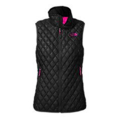 New Women's Thermoball Vest   The North Face, love the vest too! Love the bright pink inside the vest.  I think this color combo is only available on North Face.  REI has plain black