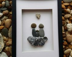 Items similar to Family Pebble Art on Etsy