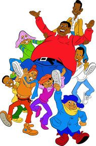 Fat Albert and friends from the animated series