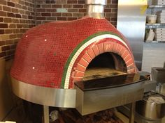 The Italian Restaurant in Willoughby and their beautifully mosaiced Wood fire pizza oven