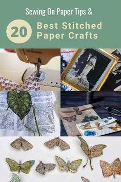 The best stitched paper craft includes both machine and hand stitched paper crafts. Also the top tips for sewing on paper both ways. Adult Crafts, Diy Home Crafts, Diy Craft Projects, Craft Tutorials, Fun Crafts, Paper Crafts, Amazing Crafts, Craft Ideas, Creative Inspiration