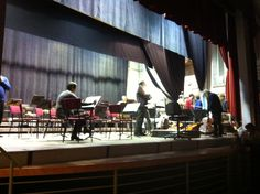 Rehearsal with Orchestra in Padova.