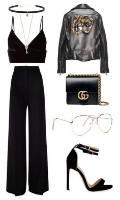 """Metal and Black"" by explorer-14776973629 ❤ liked on Polyvore featuring T By Alexander Wang, MaxMara, Carbon & Hyde, Aéropostale and Gucci"