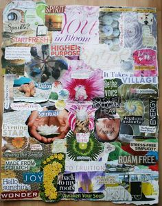 What an amazing vision board, filled with countless images and textual elements, to help inspire you on your journey. Handcrafted boards like these can offer great motivation. What would be the first thing YOU put on YOUR vision board?