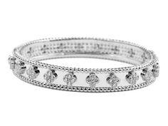 Van Cleef & Arpels Perlee Clover Bracelet in 18kt White Gold with Diamonds - Van Cleef & Arpels