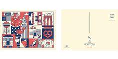 New York / London Postcard Set on Behance