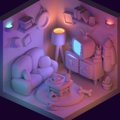 Isometric Art, Isometric Design, 3d Design, Game Design, 3d Things, Modelos 3d, 3d Studio, Dibujos Cute, 3d Artwork