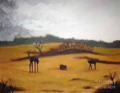 Pennsylvania Cow Farm on a Rainy Day Painting  - Pennsylvania Cow Farm on a Rainy Day Fine Art Print