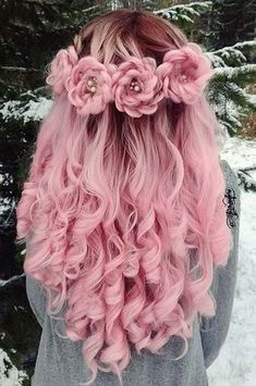 50 Pretty Pastel Pink Hair Color As The Inspiration To Try Pink Hair Hair Dye Colors, Cool Hair Color, Pretty Braided Hairstyles, Cool Hairstyles, Hairstyles Haircuts, Rose Hairstyle, Holiday Hairstyles, Hairstyle Ideas, Rose Braid