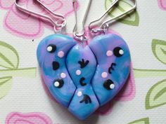 Polymer clay BFF charms!