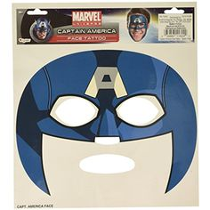 Captain America Face Tattoo Mask *** Be sure to check out this awesome product. (This is an affiliate link) #TemporaryTattoos