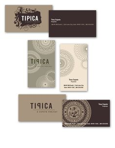 Tipica Restaurant // Logo and Business Card by Claire Edwards, via Behance
