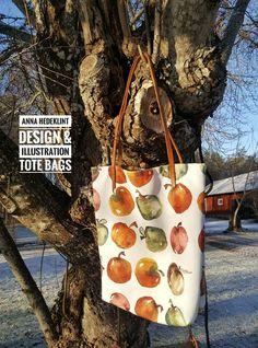 Deluxe tote bag with one of my apple designs #surfacepattern #appledesign #farmlife #designedinsweden #scandinaviandesign #swedishpatterndesigner #annahedeklint #madeinsweden