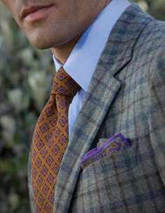 Regardless of the season, a pocket square, is always a classy touch.  But the texture, color and pattern should never be to similar to your tie.