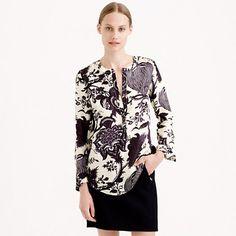 Collection noir floral blouse