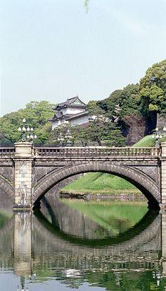 Nijubashi Bridge, Japan...Edo-jo Tokyo Imperial Palace