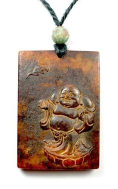 Zen Buddha Antike geschnitzte Dunkelrot Jade Amulett Talisman Halskette, Himalayan Jade geschnitzt Anhänger 50x35x10 mm, Kette 70 cm- Fortune Jade Schmuck von Feng Shui & Fortune Jewelry, http://www.amazon.de/dp/B00F8HL8QU/ref=cm_sw_r_pi_dp_lLYpsb1ADJQ7Q