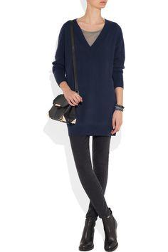 Banjo & Matilda Oversized cashmere sweater Black and Navy