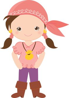 Minus - Selma De Avila Bueno The Pirates, Cartoon Clip, Cute Clipart, Girl Clipart, Clip Art, Pirate Theme, Book Girl, Beautiful Drawings, Cute Images