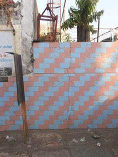 Pink and blue tiles, Ahmedabad, Gujarat, India